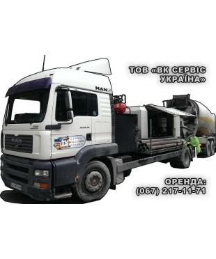 Мобильный бетононасос мощностью 90 м3, бетоновод от 120 до 140 м.