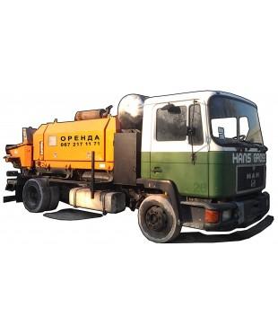 Стационарный бетононасос мощностью 50-70 м3, бетоновод от 100 до 120 м.